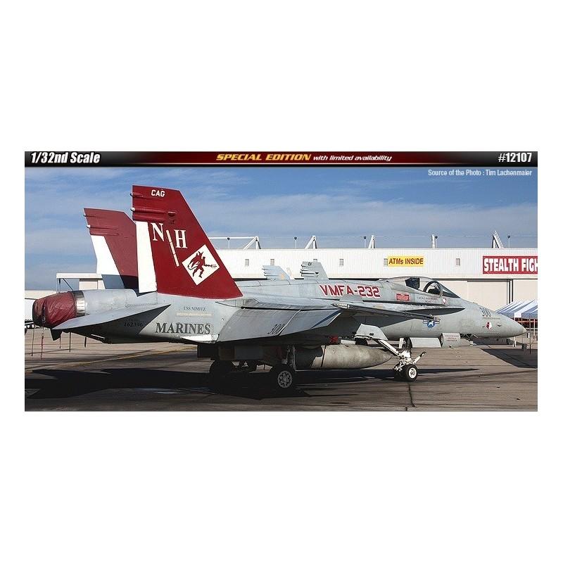 ACA-12107 academy 12107 1/32 USMC F/A-18A+VMFA-232 RED DEVILS