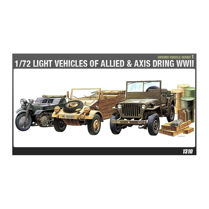 ACA-13416 ACADEMY 13416 1/72 LIGHT VEHICLES OF ALLIED  AXIS WWII (1310)