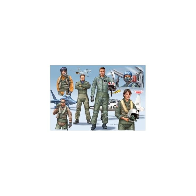 REV-02402 1/72 PILOTOS DE COMBATE DE LA OTAN MODERNOS
