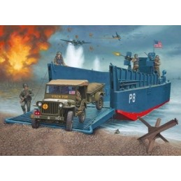 REV-03000 Revell 03000 1/35  D-day Lcm3 And 4x4 Off Road Vehicle Model Set
