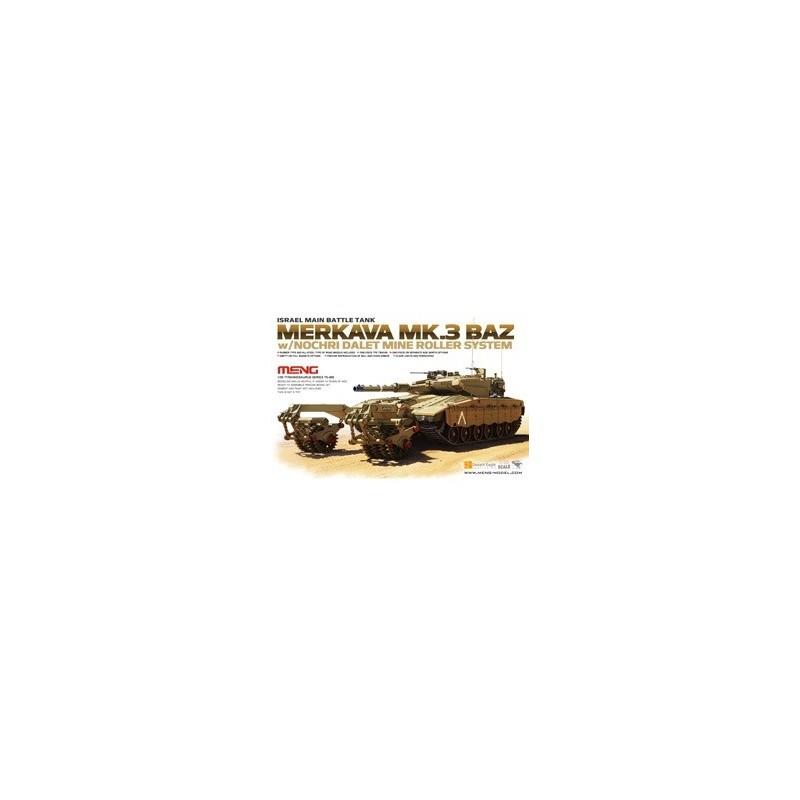 MENG-TS005 1/35 Israel Main Battle Tank Merkava Mk.3 BAZ w/Nochri Dalet Mine Roller System