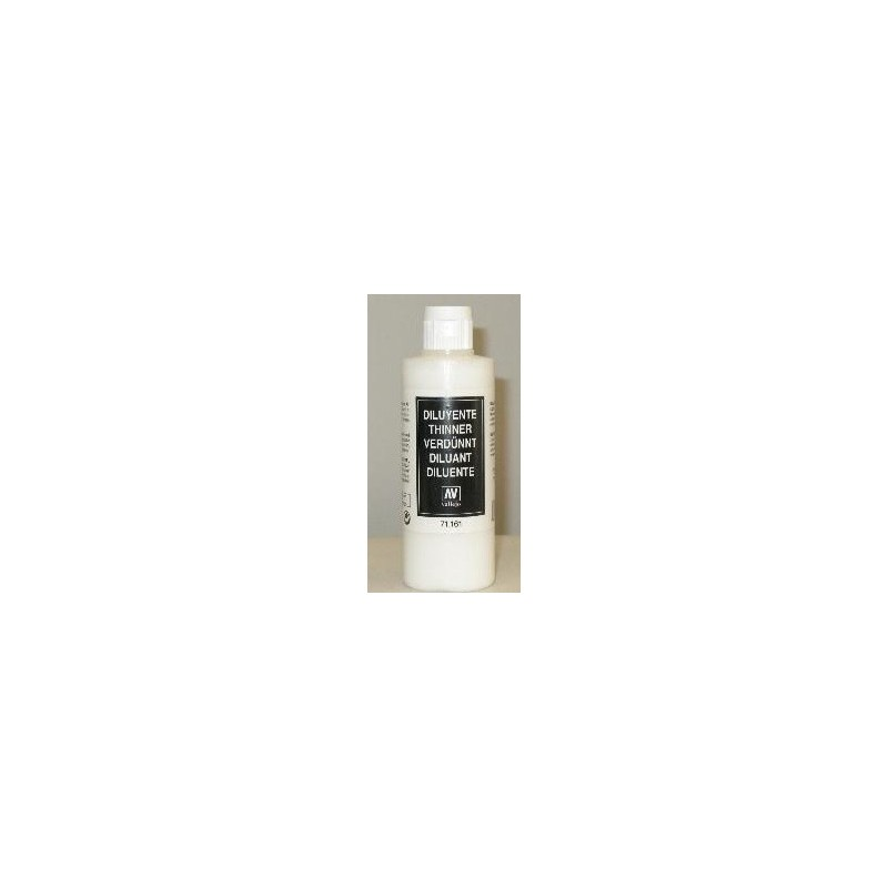 VAL-71161 Acrylicos Vallejo 71161 Diluyente Aerógrafo-Airbrush Thinner. Frasco 200 ml.
