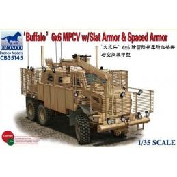 BM-35145 1/35  BUFFALO 6x6 MPCV w/Slat Armor  Spaced Armor Version