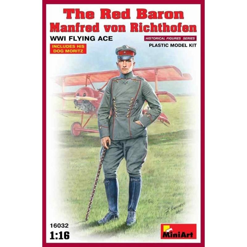 MA-16032 1/16 Red Baron. Manfred von Richthofen.WW1 Flying Ace