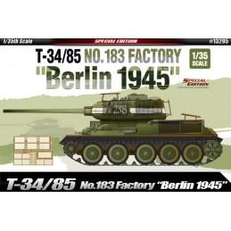 ACA-13295 academy 13295 1/35 T-34/85 NO.183 FACTORY BERLIN 1945+fotograbados