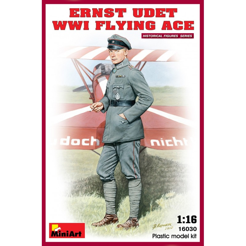 MA-16030 MINIART 16030 1/16 Ernst Udet. WW1 Flying Ace. Con peana