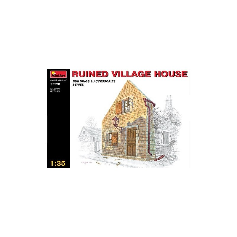 MA-35520 1/35 Ruined Village House
