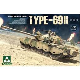 TKM-2054 TAKOM 2054 1/35 Iraqi Medium Tank Type-69 II (2 KIT in 1)