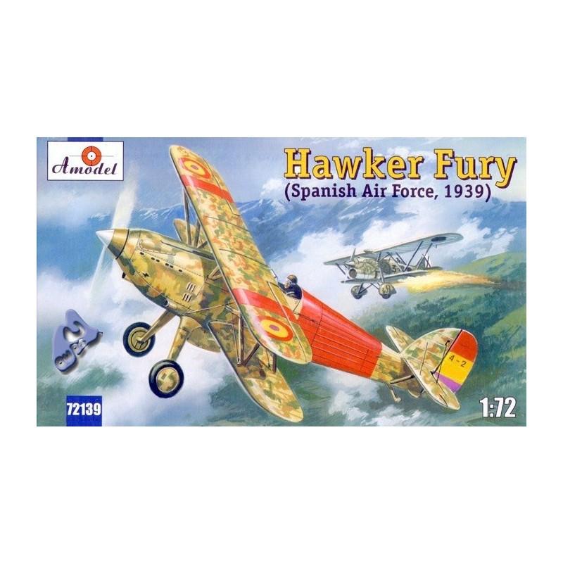 AM-72139 AMODEL 72139 1/72 Hawker Fury ( Spain ).Calcas españolas
