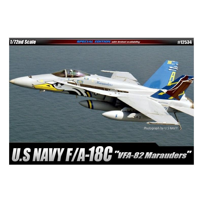"""ACA-12534 ACADEMY 12534 1/72 F/A-18C USN """"VFA-82 MARAUDERS""""  LIM.ED  7/16"""