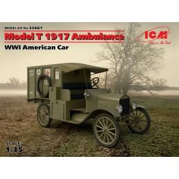 ICM-35661 ICM 35661   1/35 Model T 1917 Ambulance, WWI American Car (100% new molds)