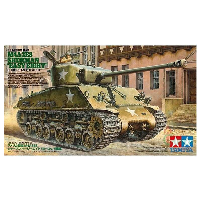 TAM-35346 TAMIYA 35346 1/35 U.S M4A3E8 SHERMAN EASY EIGHT TANK