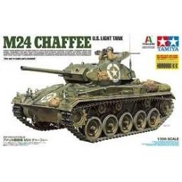 TAM-37020 TAMIYA 37020 1/35 U.S. Light Tank M24 Chaffee+cañon metalico+cadenas eslabones+accesorios