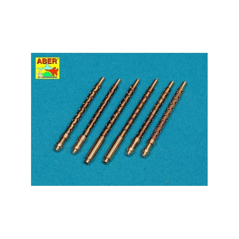 ABE-A32108 ABER A32108  1/32 Set of 6 turned U.S. cal .50 (12,7mm) Browning M2 barrels for P-51 Mustang