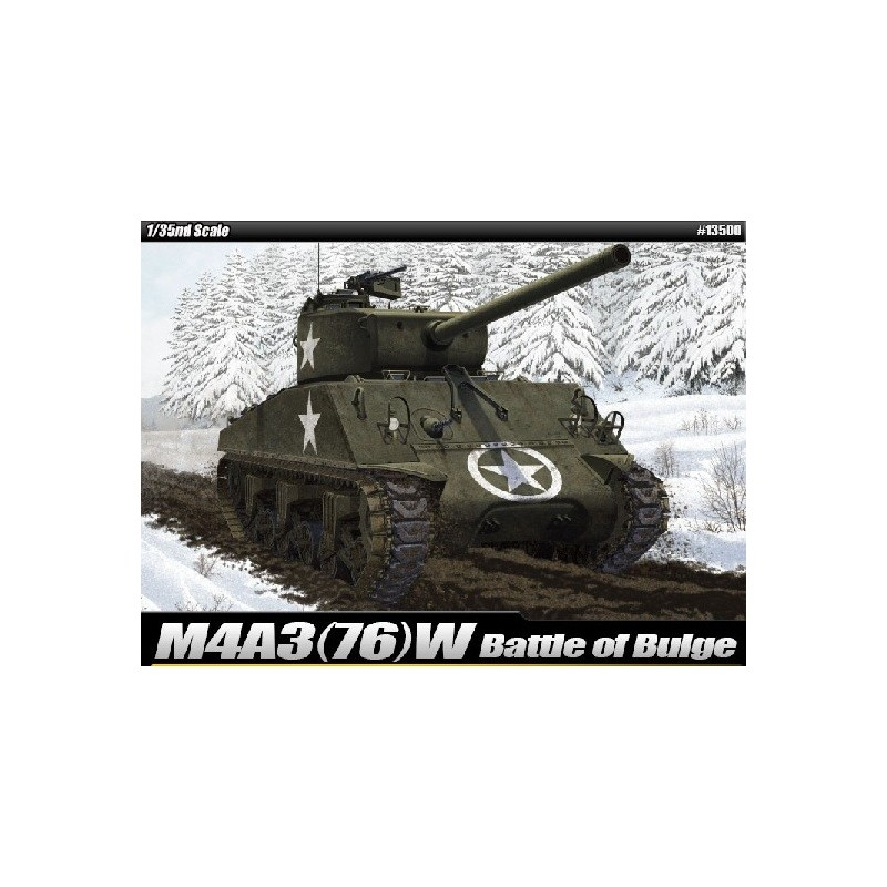 "ACA-13500  ACADEMY 13500 1/35 M4A3 76mm US ARMY ""BATTLE OF THE BULGE"""