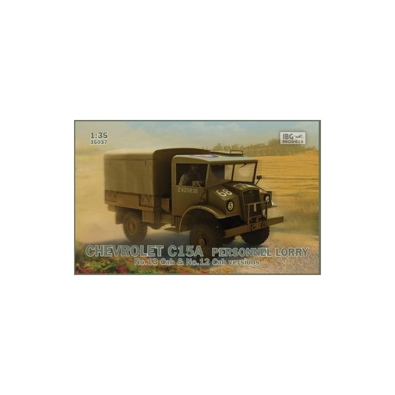 IBG-35037 IBG 35037 1/35  Chevrolet C15A  No.12/13 Cab Personnel Lorry
