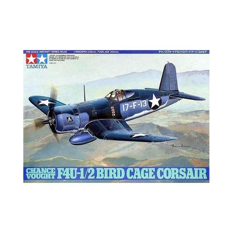 TAM-61046 Tamiya 61046 1/48 Chance Vought F4U-1/2 Bird Cage Corsair