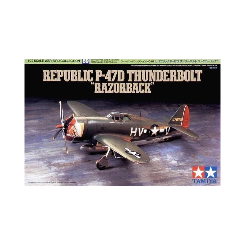TAM-60769 Tamiya 60769 1/72 P-47D Thunderbolt (Razor Back)