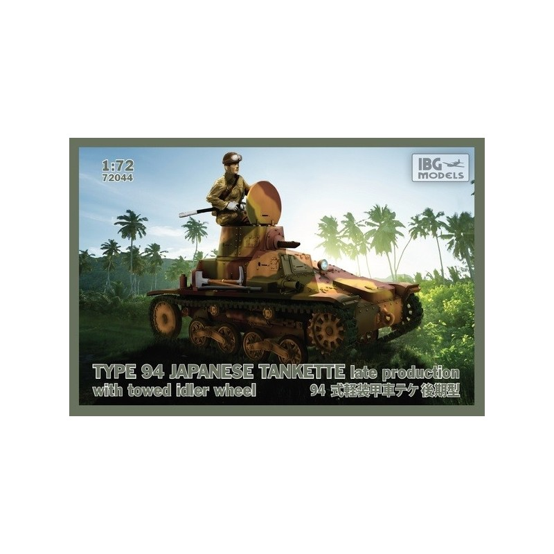 IBG-72044 IBG 72044 1/72 TYPE 94 Japanese Tankette - late production with towed idler wheel -