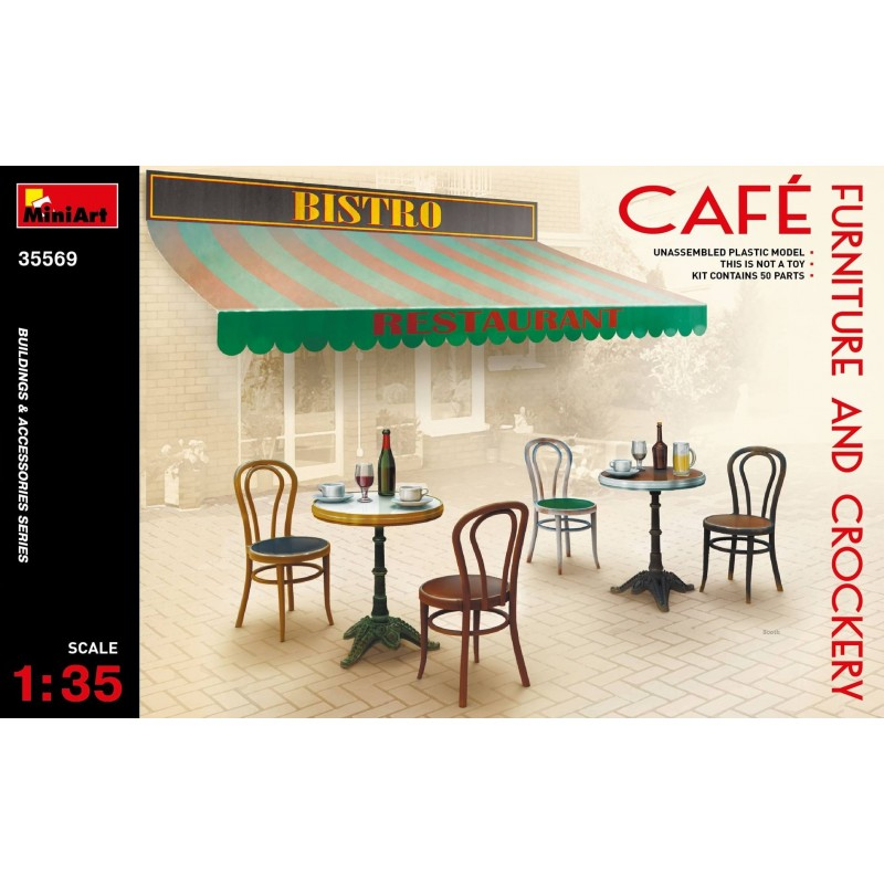 MA-35569 MINIART  1/35 35569 Café Furniture  Crockery