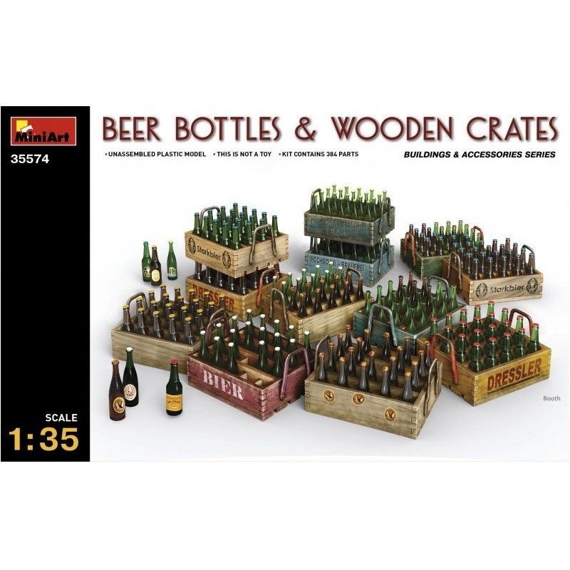 MA-35574 MINIART  35574  1/35 Beer Bottles  Wooden Crates