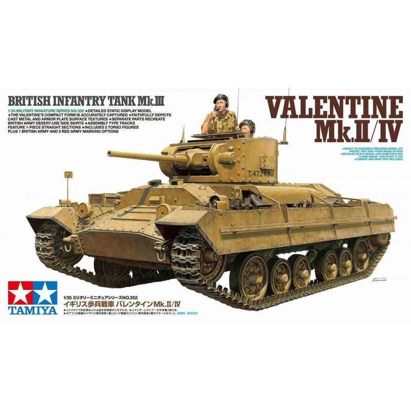 TAM-35352 tamiya 35352 1/35 British Infantry Tank Mk.III Valentine Mk.II/IV