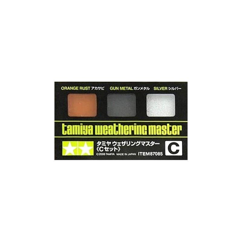 TAM-87085 Tamiya 87085 Weathering Master C- Orange Rust Gunmetal Silve