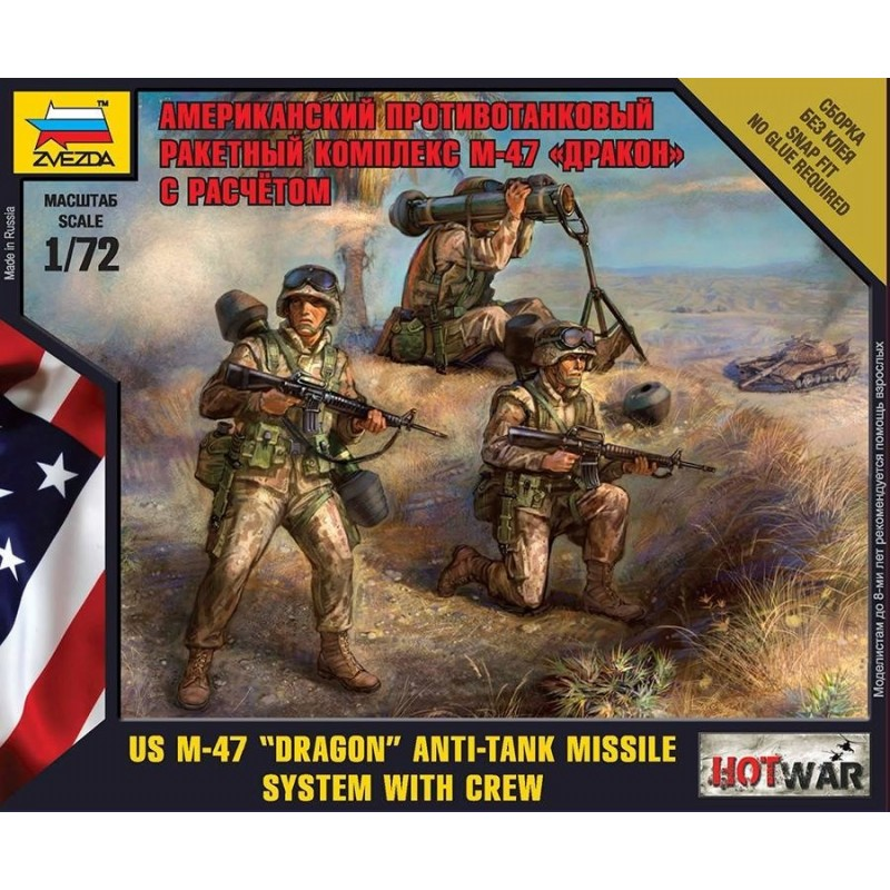 ZV-7415 Zvezda 7415 1/72  US Dragon Anti Tank Laucher with Crew