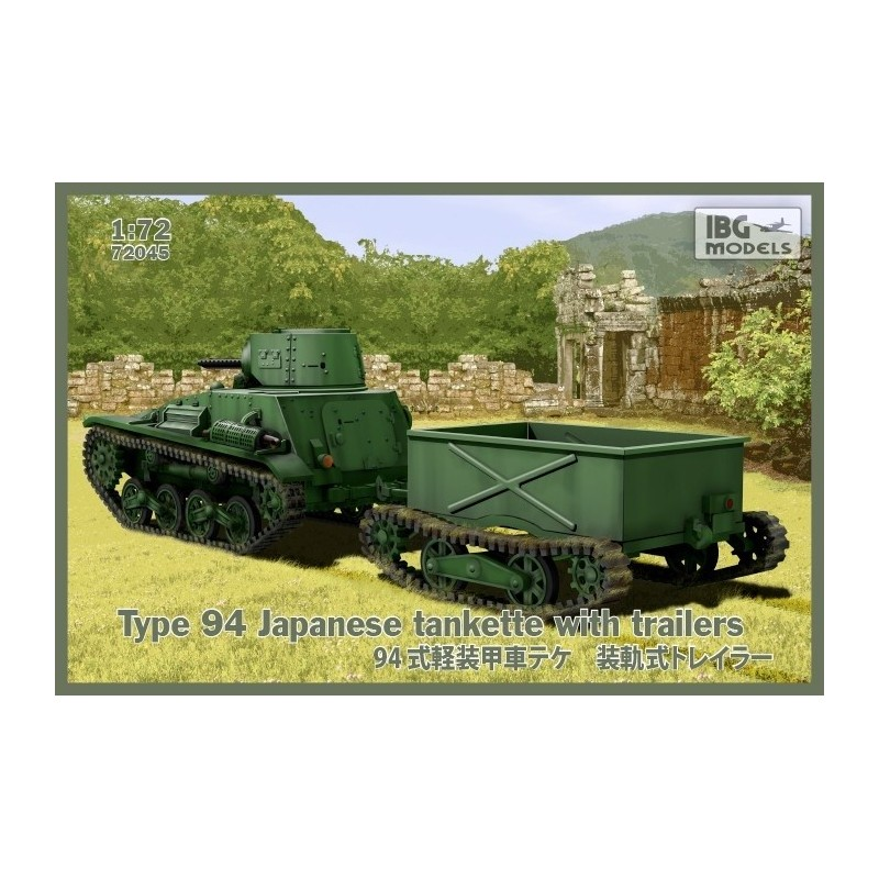IBG-72045 IBG 72045 1/72 Type 94 Japan Tankette with trailer
