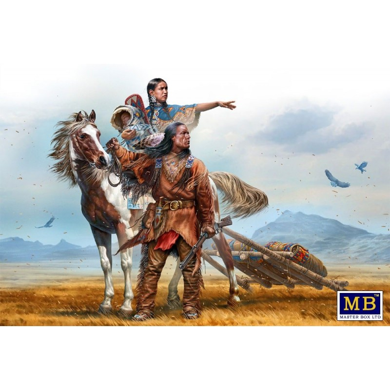 MB-35189 MASTER BOX 35189 1/35 Indian Wars Series. On the Great Plains