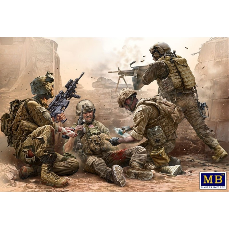 MB-35193 MASTER BOX 35193 1/35 Under Fire. Modern US Infantry