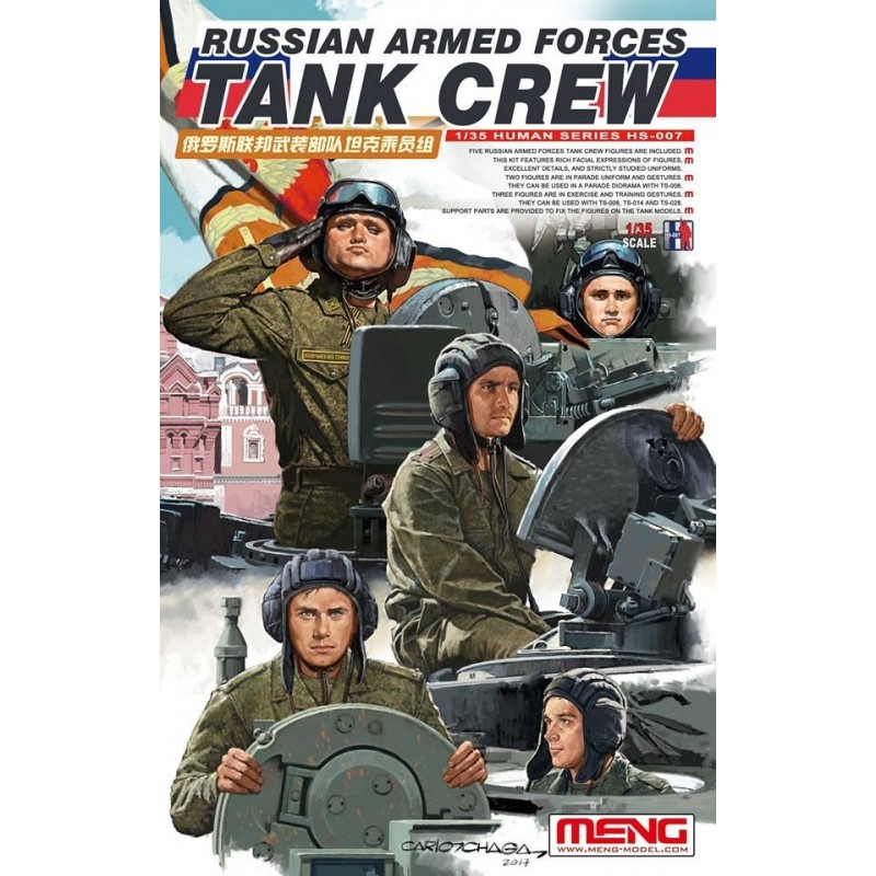 MENG-HS007 MENG HS-007 1/35 Russian Armed Forces Tank Crew