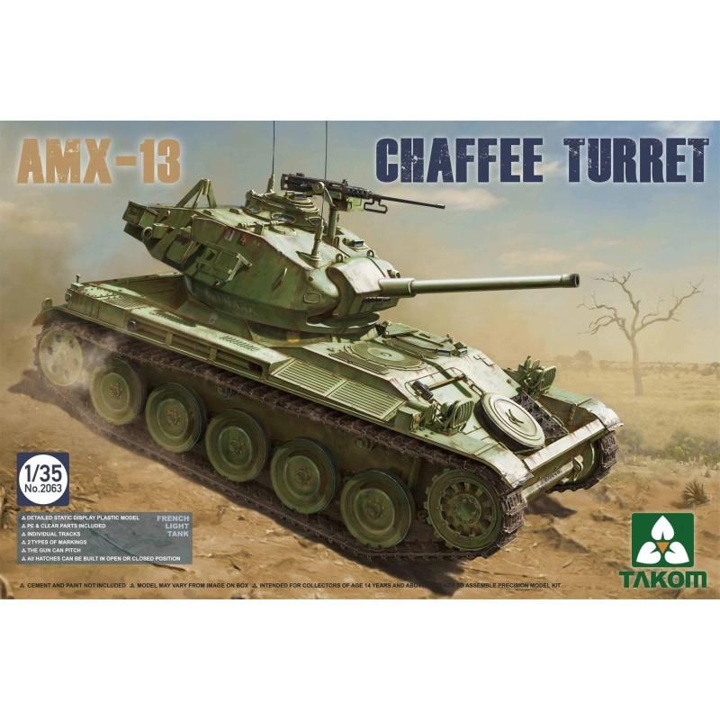 TKM-2063 TAKOM 2063   1/35 French Light Tank AMX-13 Chaffe Turret in Algerian War (1954-1962)
