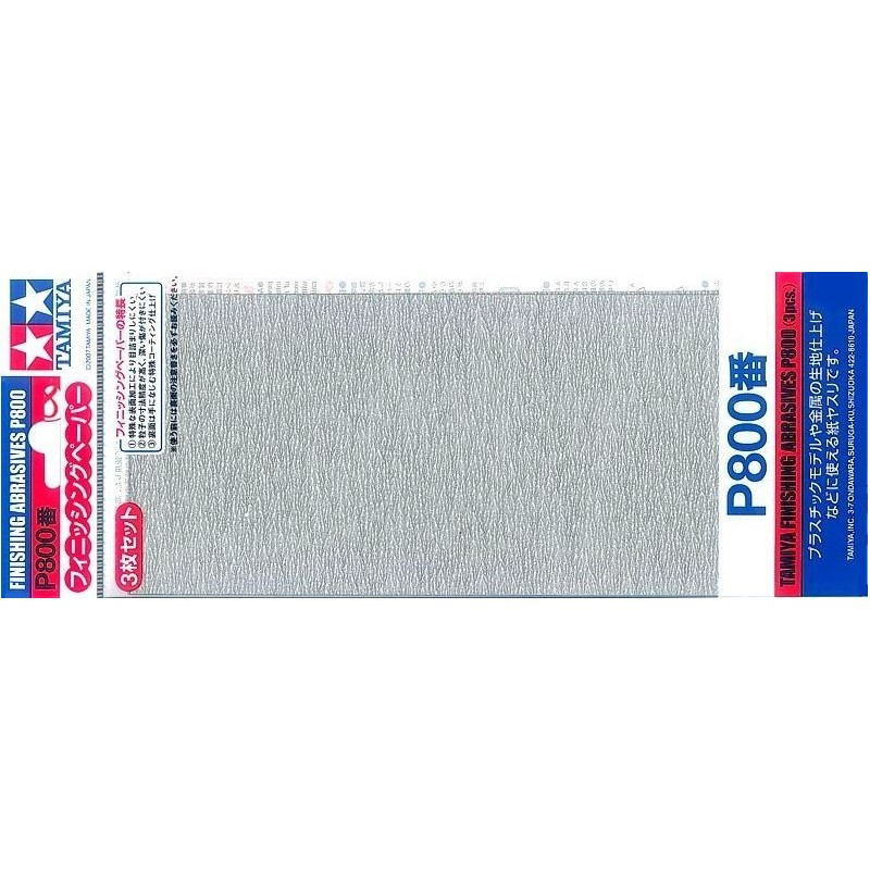 TAM-87056 Tamiya 87056 Finishing Abrasives P800
