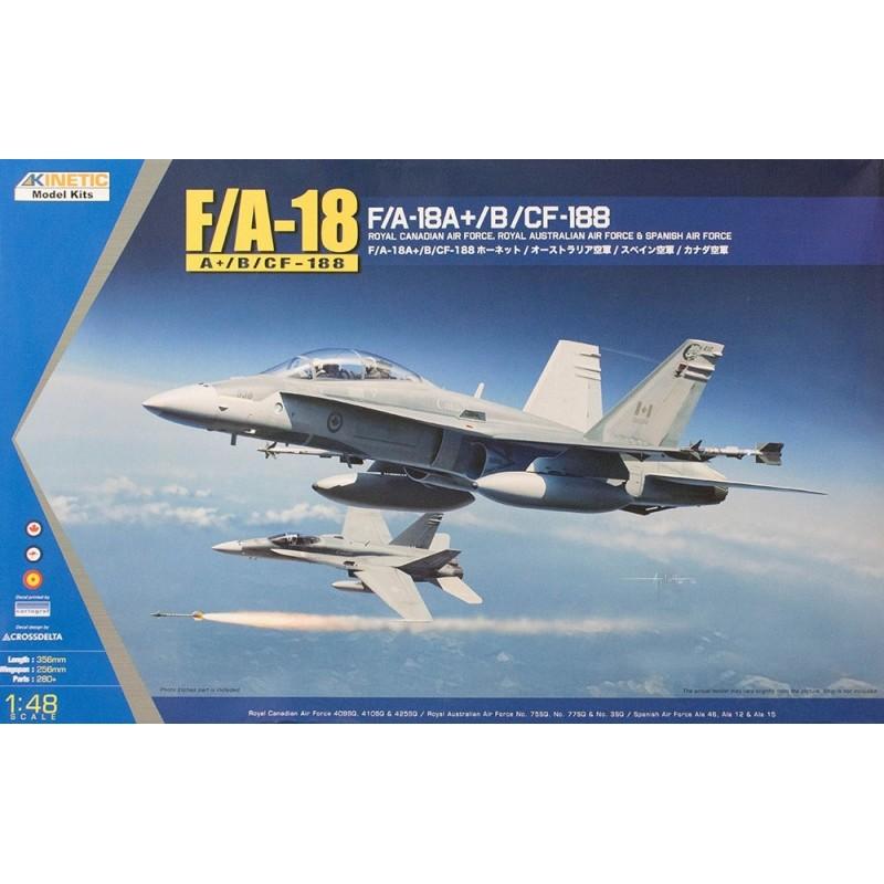 KIN-48030 Kinetic 48030 1/48 F/A-18A+, CALCAS ESPAÑOLAS