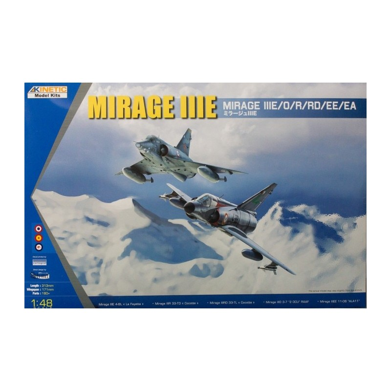 KIN-48050 Kinetic 48050 1/48  Mirage IIIE/O/R. CALCAS ESPAÑOLAS