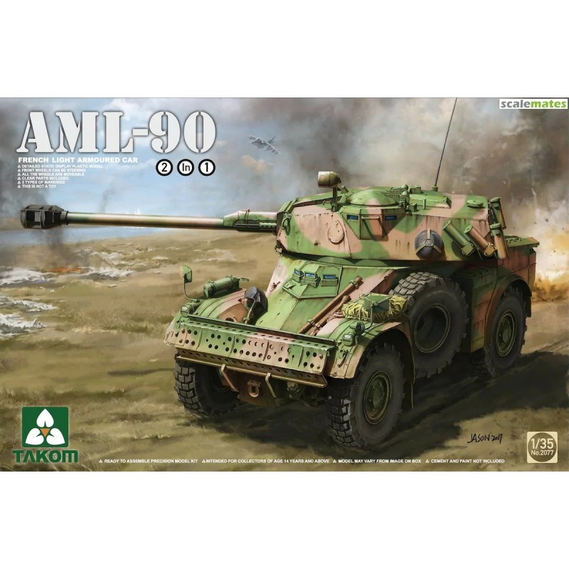 TKM-2077 Takom 2077 1/35 French Light Armored Car AML-90