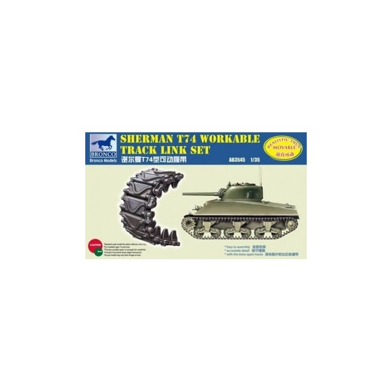 BM-3545 BRONCO MODEL 3545 1/35 Sherman T74 Workable Track Link Set