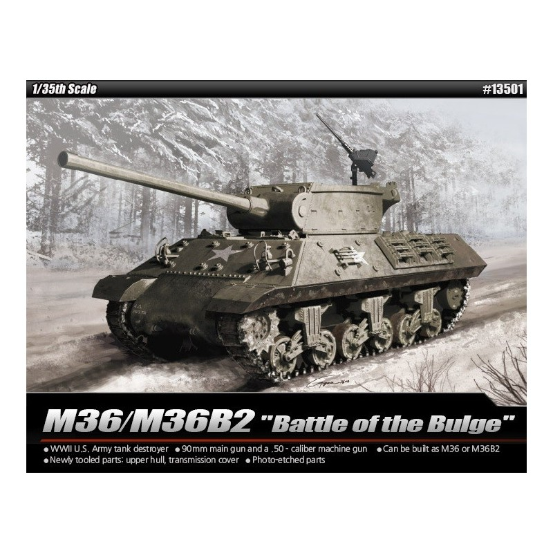 "ACA-13501 ACADEMY 13501 1/35 M36B2 US ARMY ""BATTLE OF THE BULGE"""