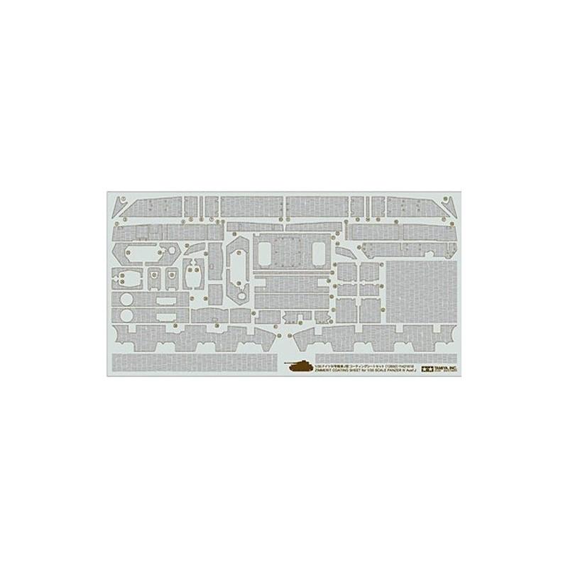 TAM-12650 Tamiya 12650 Zimmerit Coating Sheet - Panzer IV Ausf.J