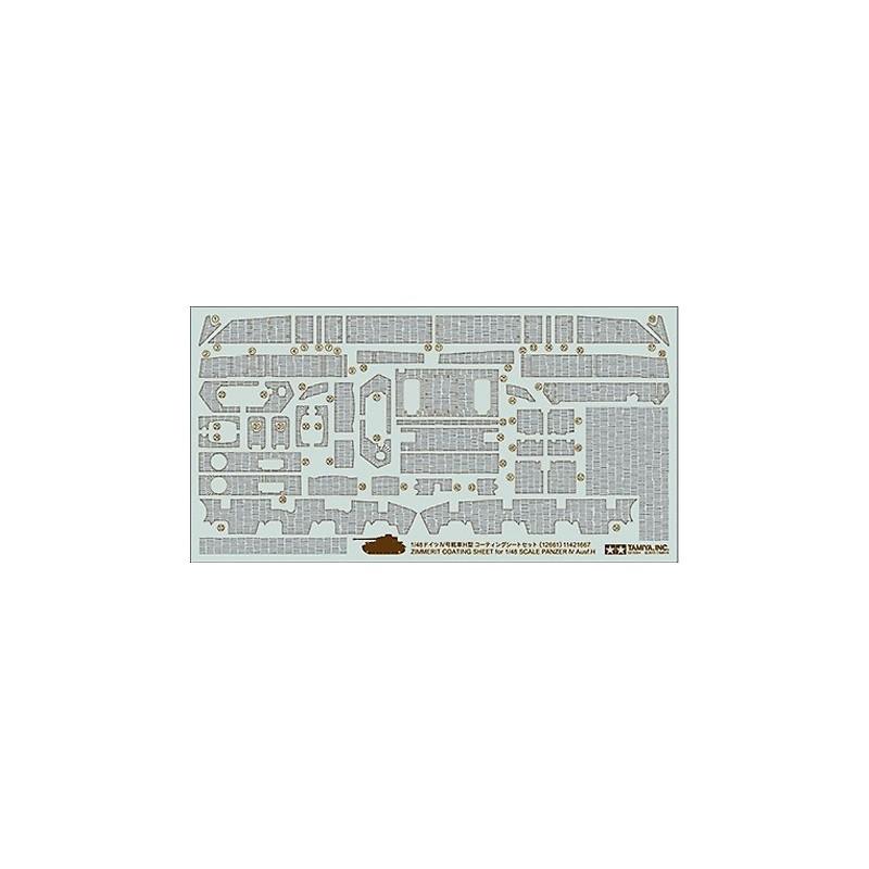 TAM-12661 Tamiya 12661 1/48 Zimmerit Coating Sheet - Panzer IV