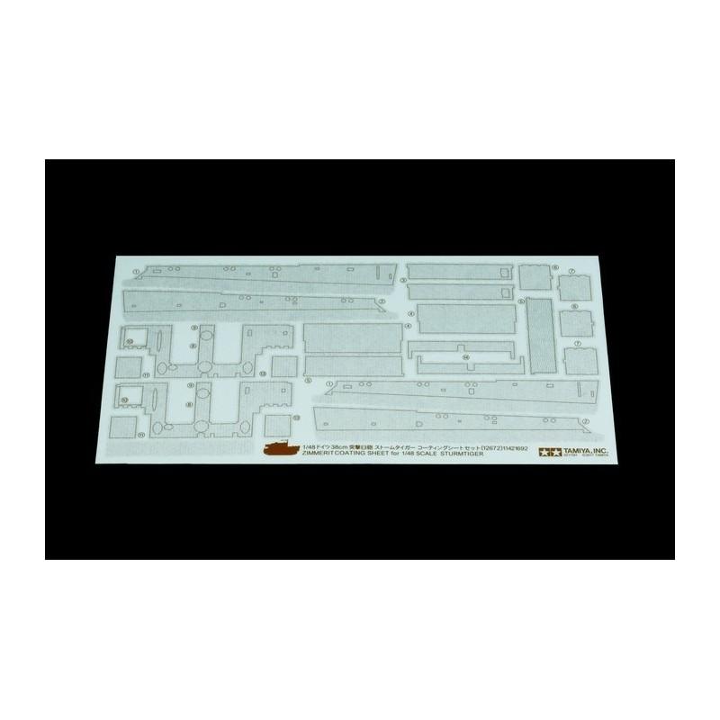 TAM-12672 Tamiya 12672 1/48 Sturmtiger Zimmerit Coating Sheet