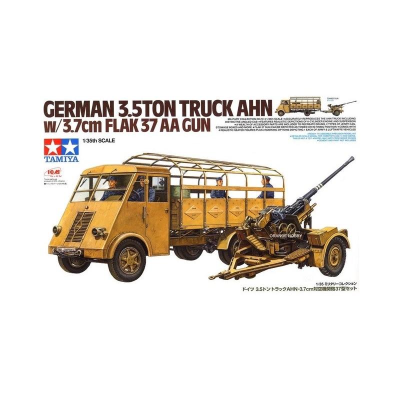 TAM-32410 Tamiya 32410 1/35 German 3.5ton Truck AHN w/3.7cm Flak 37 AA Gun