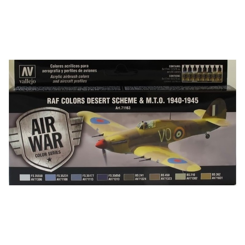 VAL-71163 acrylicos vallejo 71163 WWII RAF Desert (8) (17 ml)