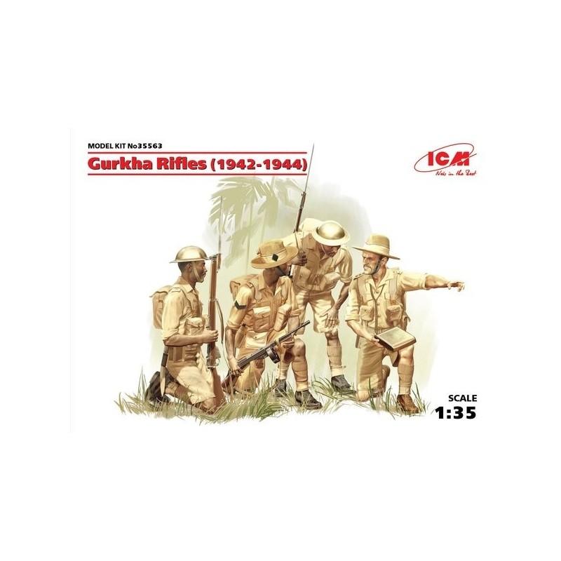ICM-35563 ICM 35563 1/35 Gurkha Rifles (1944), (4 figures)