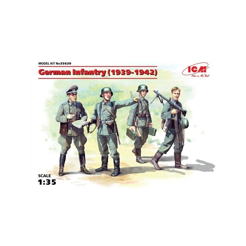 ICM-35639 ICM 35639 1/35 German Infantry (1939-1942) (4 figures) (100% new molds)