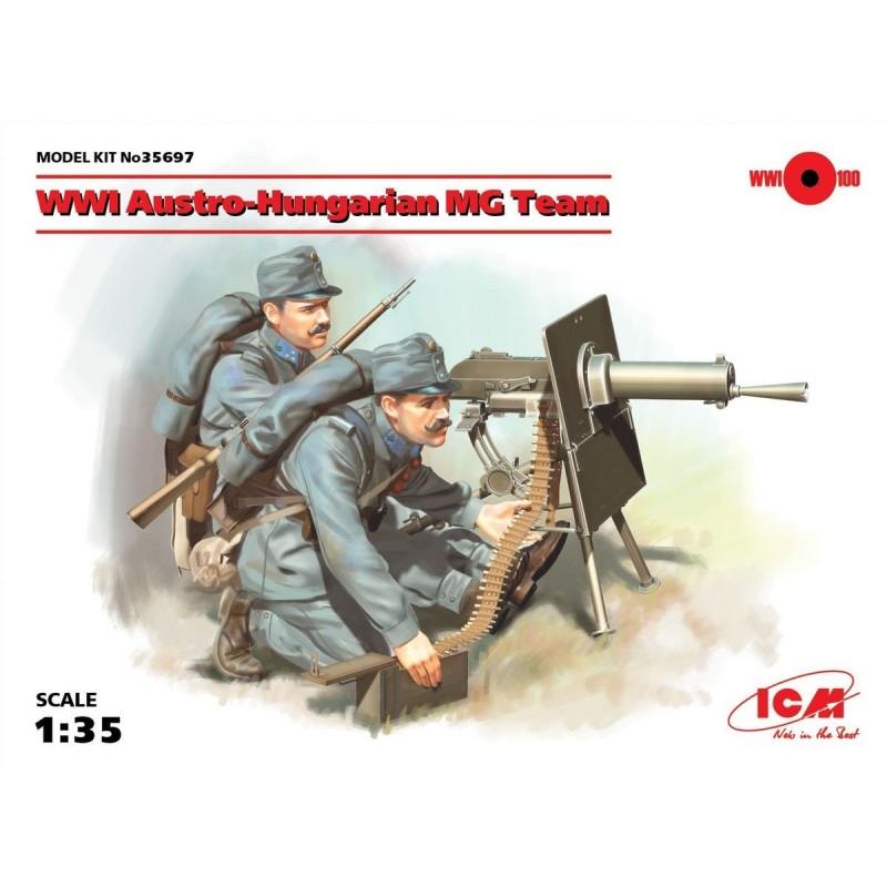 ICM-35697  ICM 35697 1/35 WWI Austro-Hungarian MG Team (2 figures)