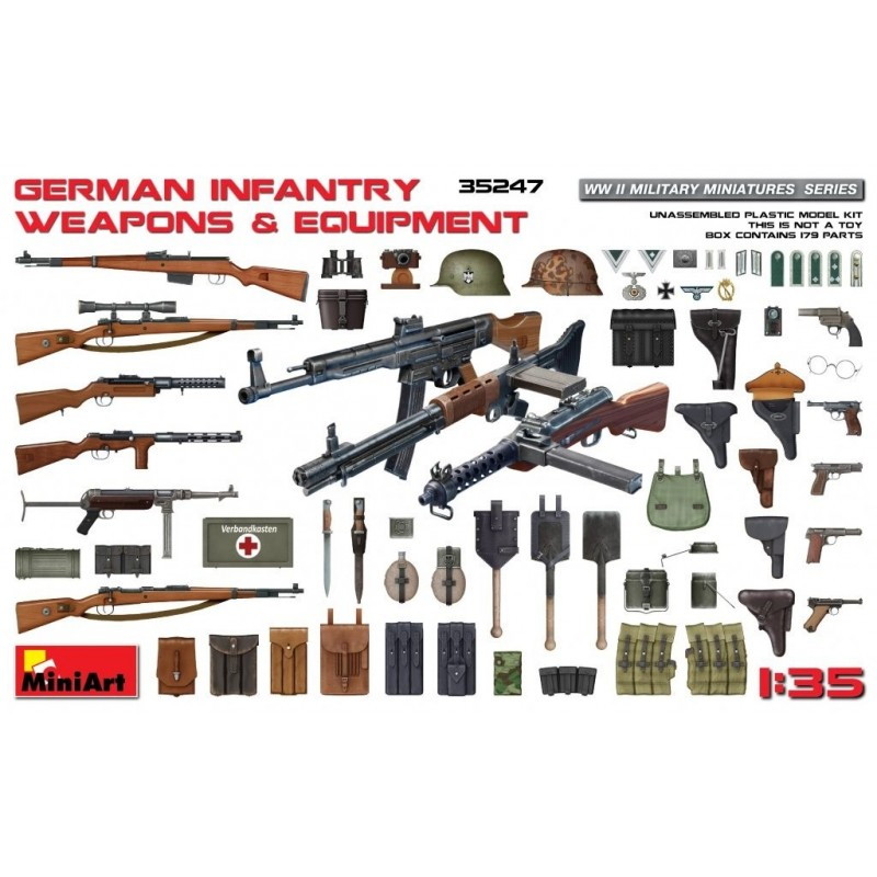 MA-35247  MiniArt 35247 1/35 German Infantry Weapons  Equipment