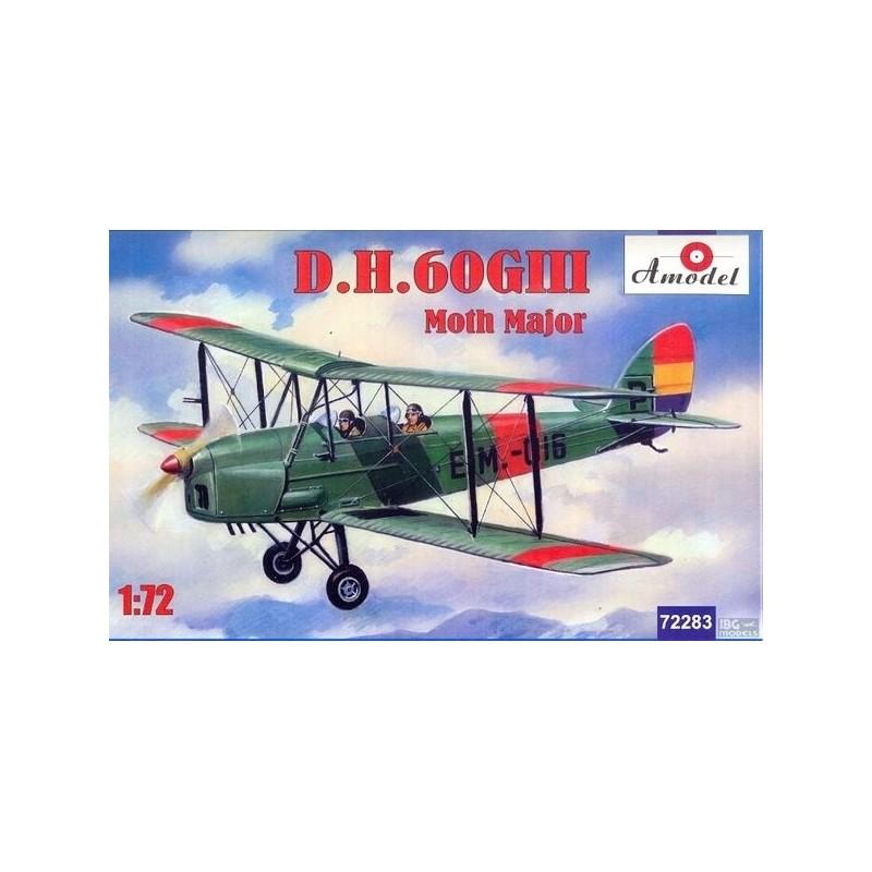AM-72283 AMODEL 72283 1/72  D.H.60GIII Moth Major.calcas españolas