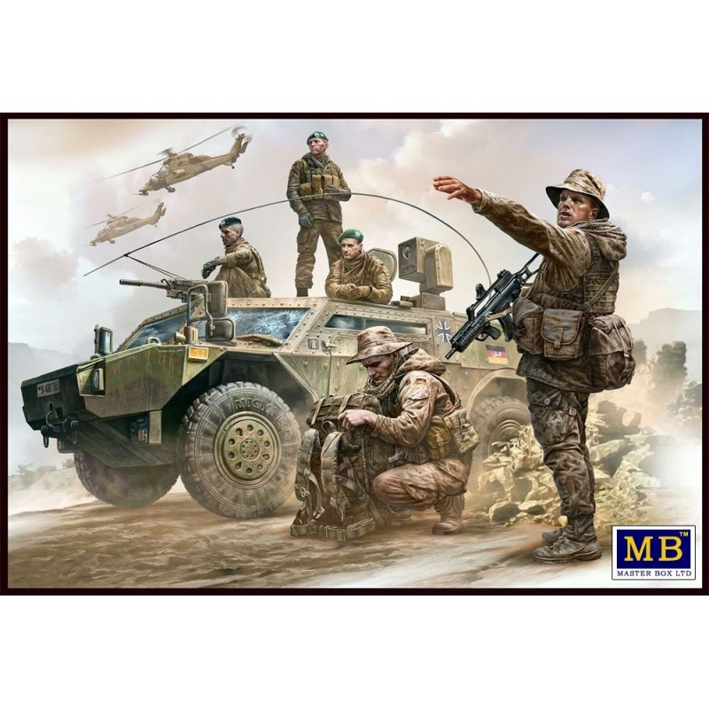 MB-35195 MASTER BOX 35195 1/35 Bundeswehr. German Military Men, Present Day